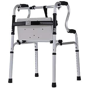 RFJJAL Andador Plegable Anciano Auxiliar de Aluminio con Placa de ...