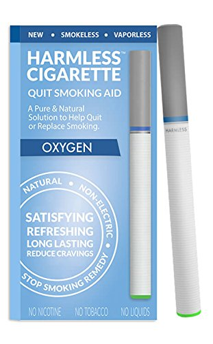 Quit Smoking Aid / Harmless Cigarette / Stop Smoking Remedy to Help Reduce Cravings / Satisfying & Effective (1 Pack, Oxygen)