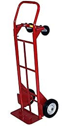Milwaukee Hand Trucks 40179 Convertible Truck with 8-Inch Solid Puncture Proof Tires
