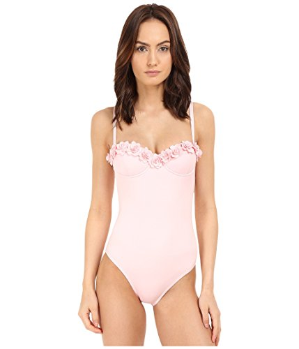 Chain Strap Maillot (Kate Spade New York Women's Spring 17 Underwire Maillot Pastry Pink)
