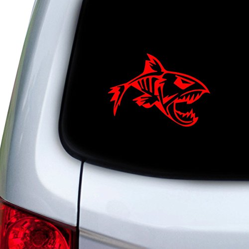 StickAny Car and Auto Decal Series Bonefish Sticker for Windows, Doors, Hoods (Red)