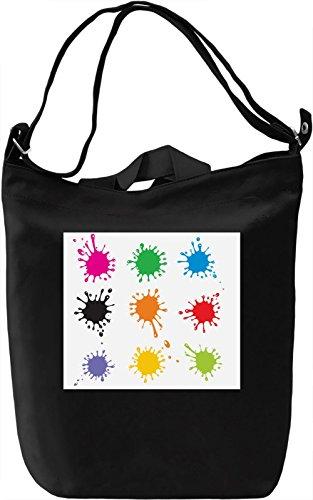 Watercolor Split Texture Borsa Giornaliera Canvas Canvas Day Bag| 100% Premium Cotton Canvas| DTG Printing|
