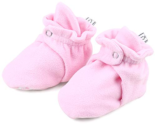 The Peanutshell Fleece Booties, 3, 6, 12 Months (12M (7-12 Months), Pink)