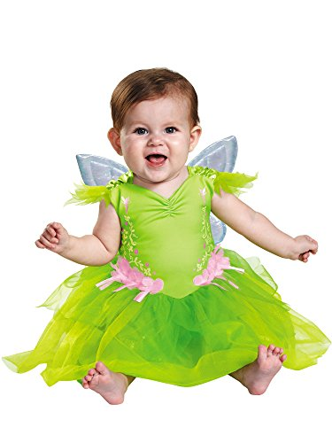 Disguise Baby Girls' Tinker Bell Deluxe Infant Costume, Green, 12-18 Months ()