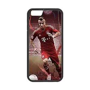 FC Internazionale Milano Xherdan Shaqiri Funda iPhone 6 Funda caja del teléfono celular de 4,7 pulgadas cajas del teléfono Negro E8R8RGJP plástico Moda