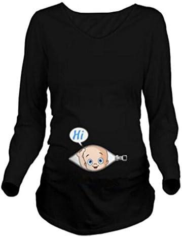 Q.KIM T-Shirt de Maternité Fem…