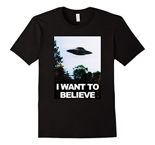 Mens Ufo Shirt   I Want To Believe Alien Ufo Tee Shirt 2017 Large Black