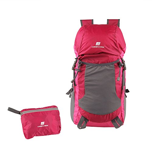 UBOWAY 30L Packable Daypack Backpack External Water Bottle Sleeves for  Hydration 160334589ea05