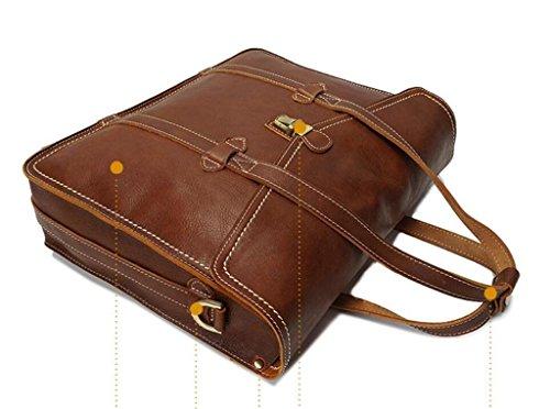brown y Perfecto Bolso Mensajero de usable la Durable Cuero Regalo con de de BAO Estilo Bolso Solo Bolso Vendimia Hombro Brown de 1TqHWpwxS