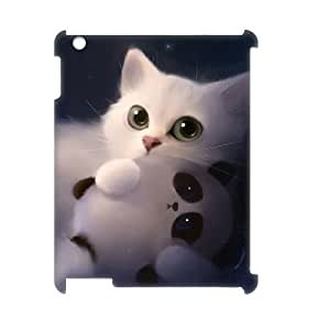 LZHCASE Diy Cover Custom Case Lovely Cat For IPad 2,3,4 [Pattern-1]