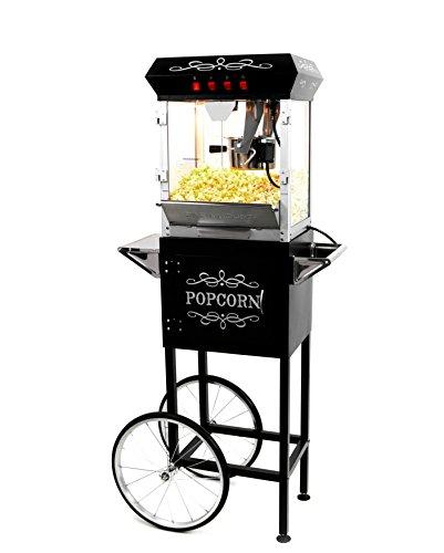 Paramount 6oz Popcorn Maker Machine & Cart - New Upgraded Feature-Rich 6 oz Hot Oil Popper [Color: Black]
