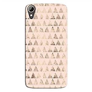Cover It Up - Brown Light Pink Triangle Tile Desire 828 Hard Case