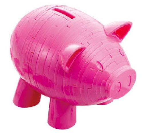 Crystal Puzzle Piggy bank pink puzzle (japan import)