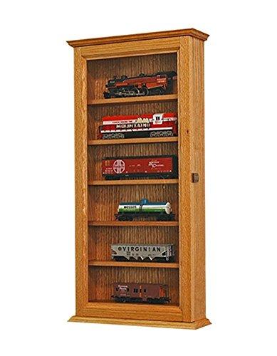 HO Scale Model Train Display Case-Oak *Made in the USA* ()