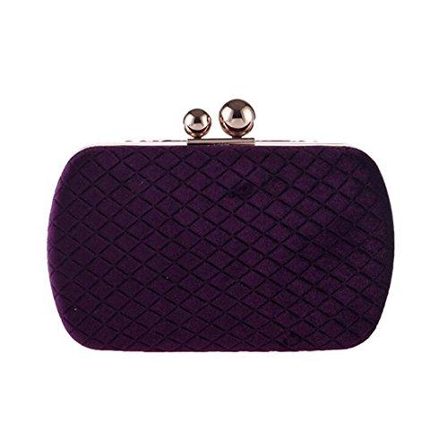 Flanella Da Strass Sera Borsa Borse Maniglia Diagonali Anelli Purple colore Per Catene Donna Frizioni Purple Heiplaine Banchetti Femmina X5xqEE