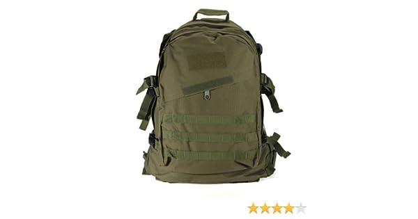SODIAL(R) Militar tactico al aire libre 40L Mochila Mochila Senderismo camping Trekking Bolsa - verde del ejercito: Amazon.es: Deportes y aire libre