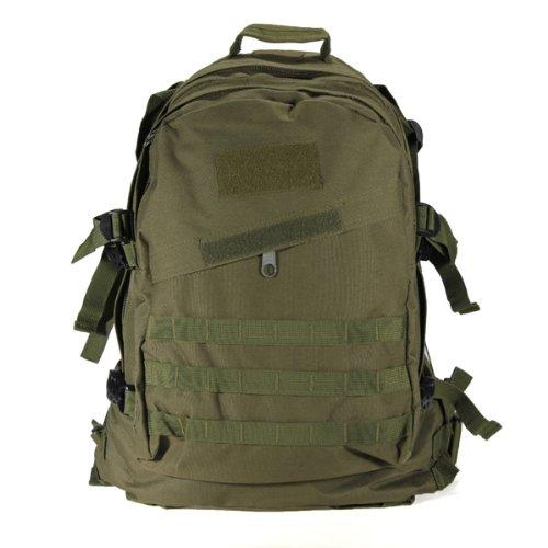 TOOGOO(R) 40L Aussen Military Tactical Rucksack Rucksack Wandern Camping Trekking Tasche - Armee-Gruen