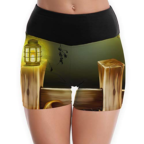 Women's Yoga Booty Shorts Halloween High Waist Compression Tights Slim Fit Stretch Gym for $<!--$25.89-->