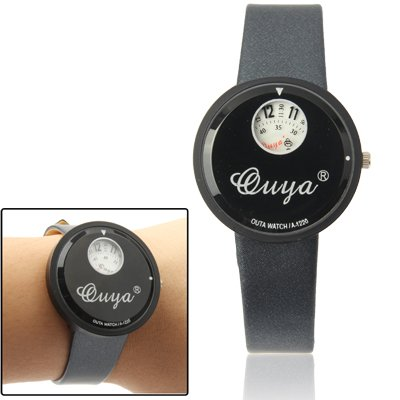 Stylish Quartz Wrist Watch +Synthetic Leather Strap Watch (Black + White) Premium Quality by GuiPing
