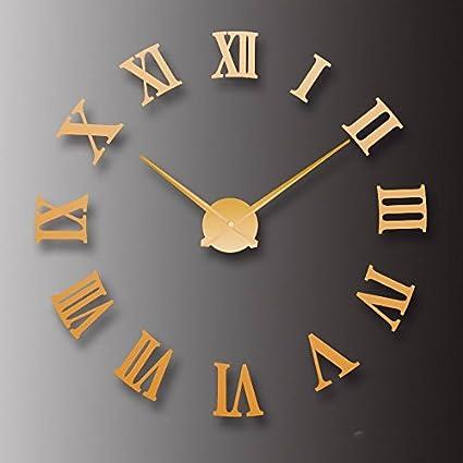 WERLM Diseño de personalidad a la decoración del hogar Reloj de pared relojes arte simple creativa