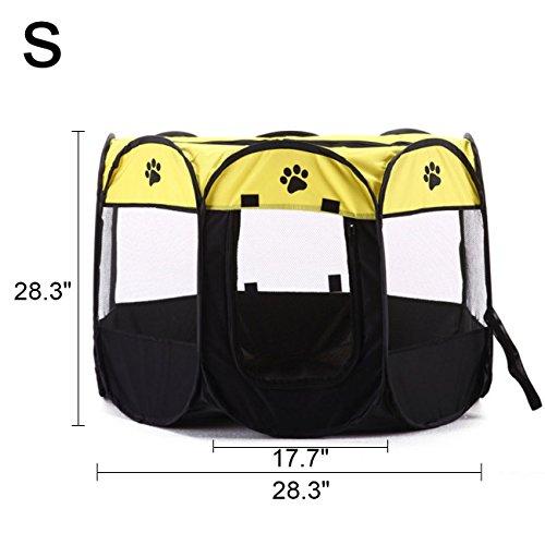 UHeng Pet Dog Cat 600d Oxford Cloth Portable Foldable Playpen Cage