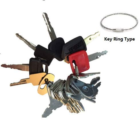 21 Keys Heavy Equipment Key Set / Construction Ignition Keys Set