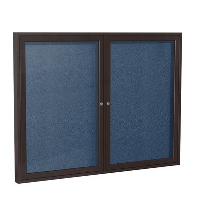 2 Door Outdoor Enclosed Bulletin Board Size: 3' H x 5' W, Frame Finish: Satin, Surface Color: Spruce by Ghent