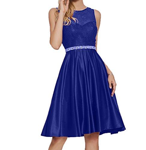Abendkleider Blau Damen Brautjungfernkleider Kurz Ballkleider Knielang Royal Charmant Festlichkleider Partykleider 1CZxqEZwf