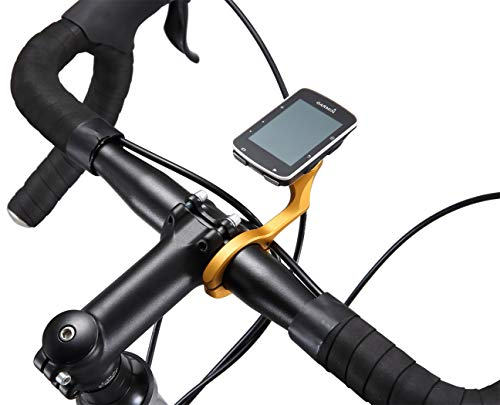 Dymoece Aluminium Alloy Out Front Bicycle Computer Combo Handlebar Mount for Garmin Edge 200 500 510 520 800 810 820 1000 1030 and Sport Action Camera,Compatible Handlebar Sizes 31.8mm 25.4mm