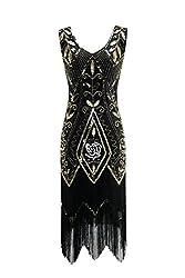 Women's Flapper Fringe Beaded Dress
