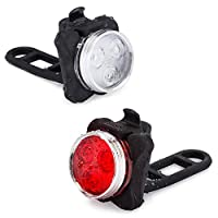 Vont Bike Light Set (USB Rechargeable), Bright Front Back Illumination Bike Lights, The Only LED Bicycle Light You'll Need. Super Long Battery Life, Waterproof Bike Lights, Accessories (4 Modes)