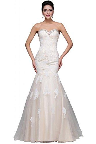 Sunvary - Vestido de novia - Mujer blanco