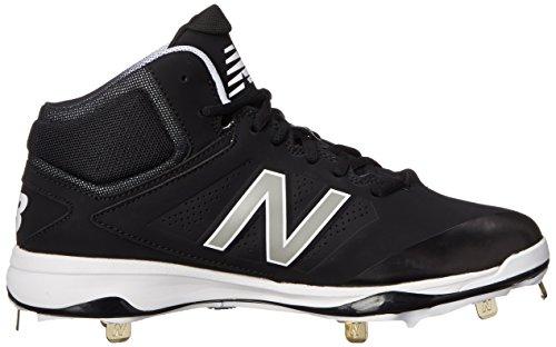 New Balance hombres del béisbol de clavijas m4040V3Shoe Negro/Negro