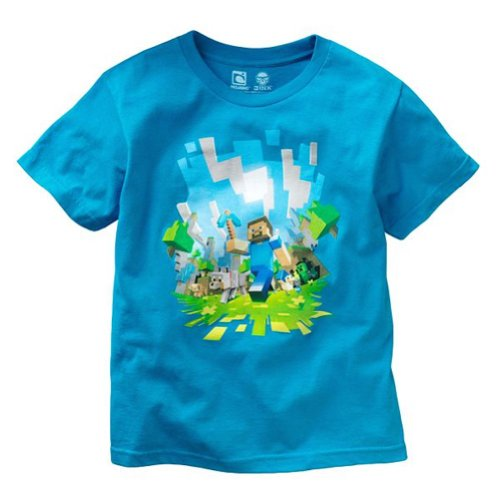 Minecraft Adventure Youth T-shirt, Turquoise, YL