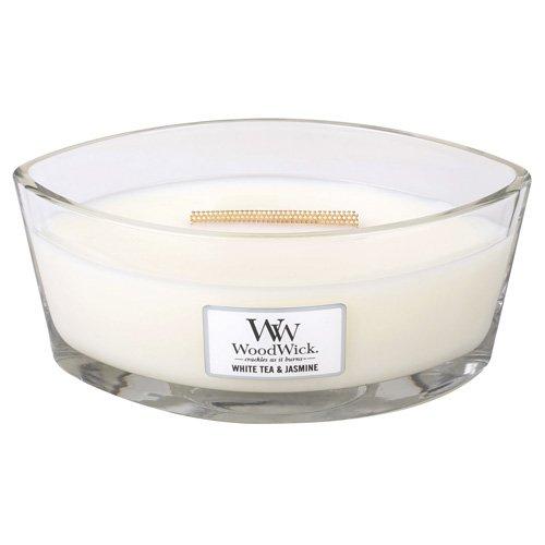 WoodWick White Tea Jasmine Hearthwick Ellipse Candle, 16 oz.