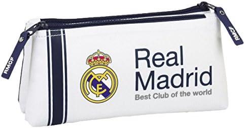 Safta Real Madrid - Neceser pequeño Doble, 1ª equipacion Temporada 2016/2017 811654548: Amazon.es: Juguetes y juegos