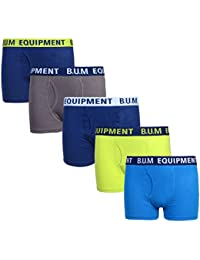 Boys 5 Pack Solid Boxer Briefs Underwear (More Colors Available)