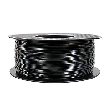 Filamento para impresora 3D, 1,75 mm, filamento ABS (negro ...
