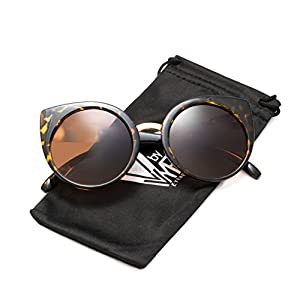 V by VYE Just Peachy Cat Eyes for Women with Rated UV Protection-Plastic Frame Sunglasses- Stylish Vintage Fashion Glasses for Beach, Festivals, Sports, and Outdoors