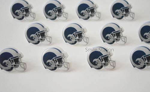 12 NFL Los Angeles Rams Football Cupcake Rings Topper Kid Party Bag Favor Supply]()