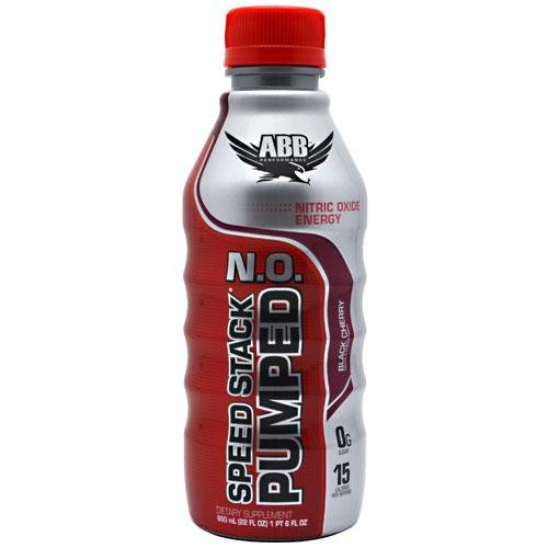 American Body Building Speed Stacked Pumped N.O. 22 Ounce, Black Cherry, 20 Count by American Body Building