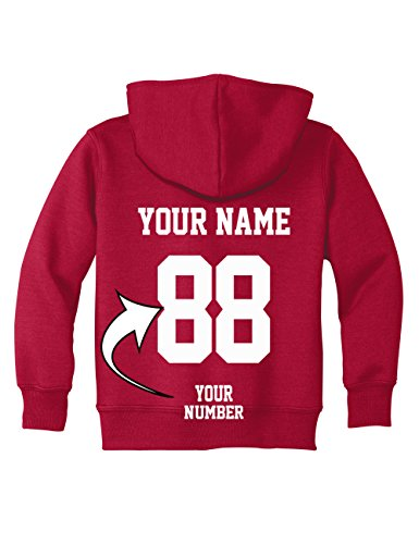 Custom Toddler Hoodies - Design Your OWN Jersey Sweatshirt for Kids - Hooded Team Sweaters ()
