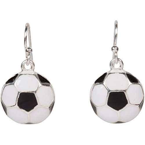 Soccer Ball Sport Dangle Earrings