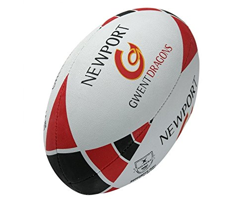 Newport Gwent Dragons - GILBERT Newport Gwent Dragons Replica Supporter Rugby Ball, 5