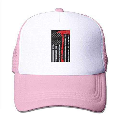 Stainless Steel Thin Gas Caps - Adult's USA Flag Thin Red Line Youth Mesh Baseball Cap Summer Adjustable Trucker Hat