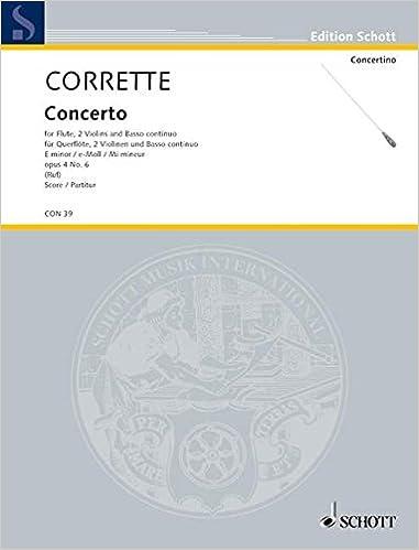Concerto E Minor Op 46 Amazon Michel Corrette Books