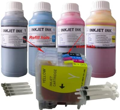 5890CN 6490CW 790CW 490CW Magenta Works with: DCP 165C; MFC 290C CNY Toner Compatible Ink Cartridge Replacement for Brother LC61M 5490CN
