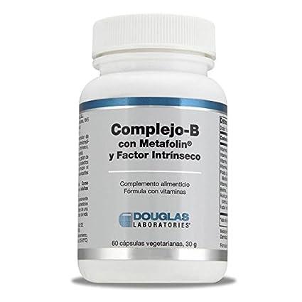 Complejo-B con Metafolin y Factor intrinseco - Laboratorios Douglas - 60 Capsulas Vegetarianas