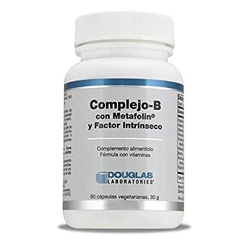 Complejo-B con Metafolin y Factor intrinseco - Laboratorios Douglas - 60 Capsulas Vegetarianas: Amazon.es: Salud y cuidado personal