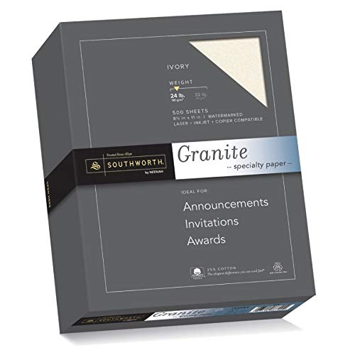 Recycled Ivory Paper (Southworth Granite Specialty Paper, 8.5